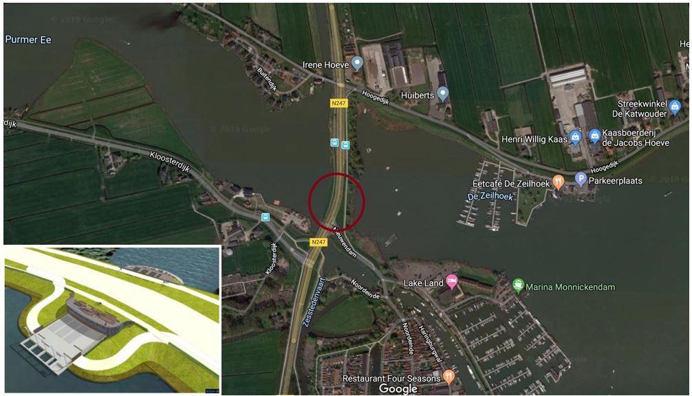 Locatie gemaal Monnickendam