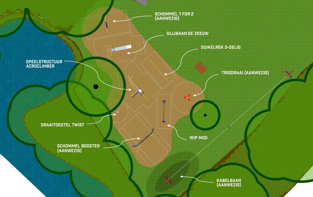 plattegrond speeltoestellen