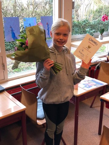 Lissy Sundermeijer, winnaar voorleeswedstrijd