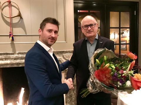 Wethouder ten Have met Marc Boeljon van de Posthoorn